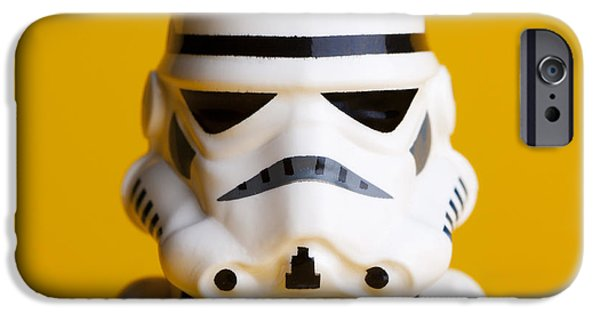 Star Alliance Photographs iPhone Cases - Stormtrooper Portrait iPhone Case by Samuel Whitton