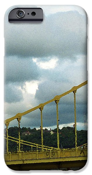 Stormy Bridge iPhone Case by Frank Romeo
