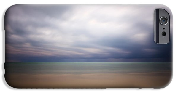 Abstract Seascape iPhone Cases - Stormy Calm iPhone Case by Adam Romanowicz