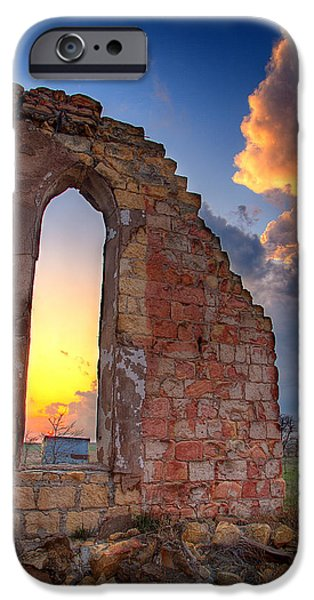 Storm Photographs iPhone Cases - Stormy Church iPhone Case by Thomas Zimmerman