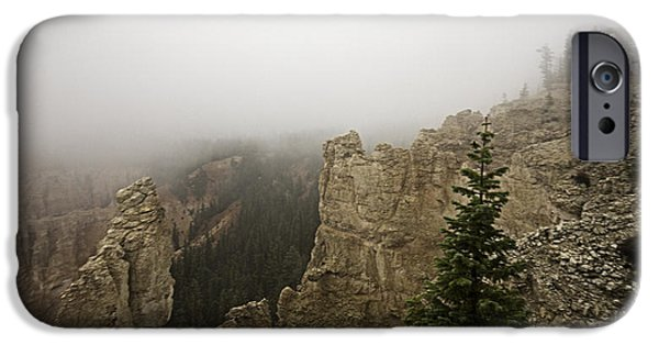 Red Rock iPhone Cases - Stormy Day in Bryce Canyon Utah 3 iPhone Case by James Sage