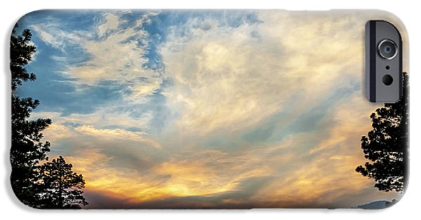 Turbulent Skies iPhone Cases - Stormy Evening iPhone Case by Maria Coulson