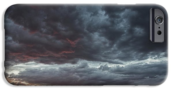 Recently Sold -  - Storm iPhone Cases - Stormy Jemez Mountains Sunset - Santa Fe New Mexico iPhone Case by Brian Harig
