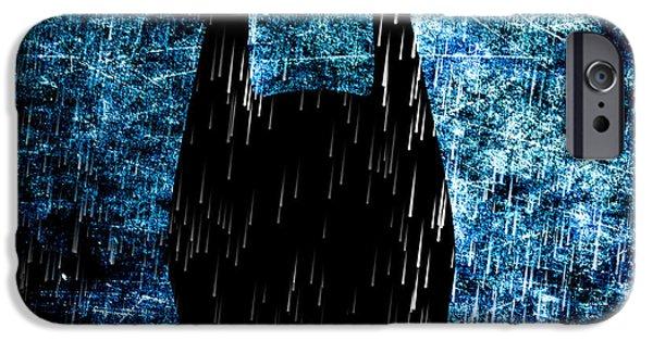 Dark Knight iPhone Cases - Stormy Knight Dark Knight iPhone Case by Bob Orsillo