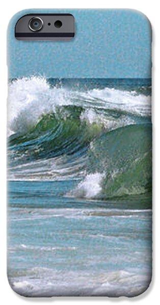 Stormy Lagune - Blue Seascape iPhone Case by Ben and Raisa Gertsberg