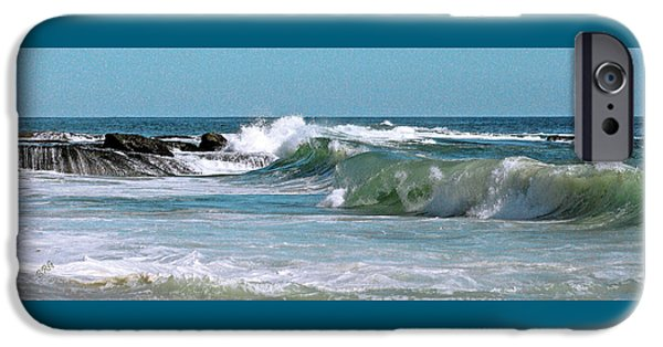 Turbulent Skies iPhone Cases - Stormy Lagune - Blue Seascape iPhone Case by Ben and Raisa Gertsberg