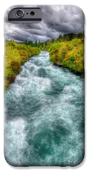Recently Sold -  - Turbulent Skies iPhone Cases - Stormy River iPhone Case by Colin Woods