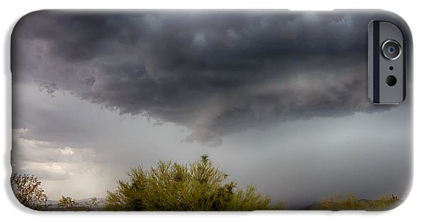 Natural Forces iPhone Cases - Stormy Skies Ahead  iPhone Case by Saija  Lehtonen