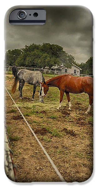 Stormy Skies iPhone Case by Kristina Deane