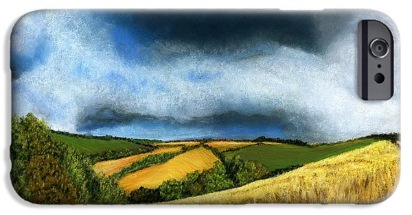 Storm Prints Pastels iPhone Cases - Stormy Skies iPhone Case by Sarah Dowson
