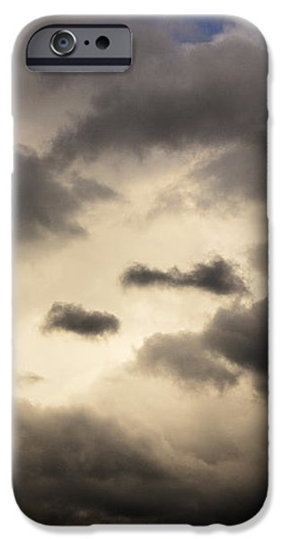 Stormy Sky with a Bit of Blue iPhone Case by Thomas R Fletcher