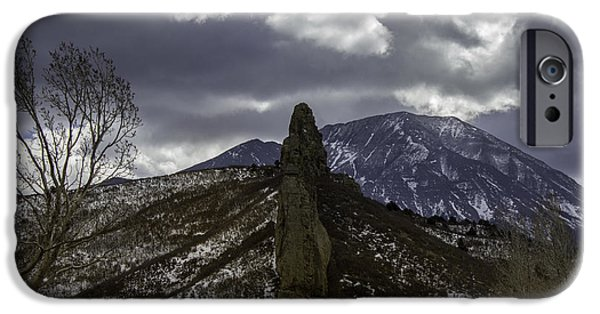 Winter Storm iPhone Cases - Stormy Stone Wall iPhone Case by Brent Touchstone