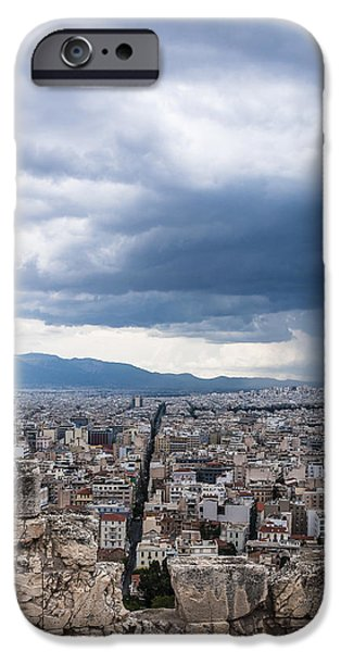 Rainy Day iPhone Cases - Stormy straight iPhone Case by Yevgeni Kacnelson
