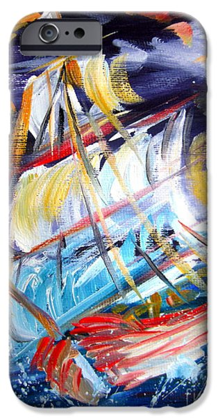 Storm iPhone Cases - Stormy Waters iPhone Case by Roberto Gagliardi