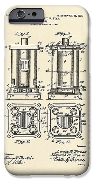 Stove iPhone Cases - Stove Patent From 1907 iPhone Case by Mark Rogan
