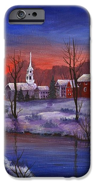 Stowe - Vermont iPhone Case by Anastasiya Malakhova