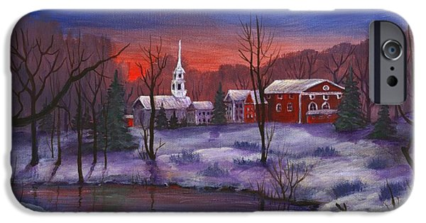 Town iPhone Cases - Stowe - Vermont iPhone Case by Anastasiya Malakhova