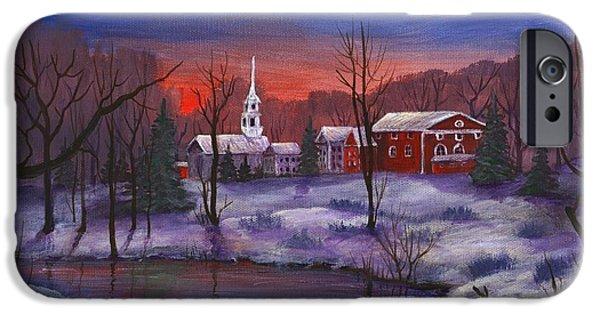 Winter iPhone Cases - Stowe - Vermont iPhone Case by Anastasiya Malakhova