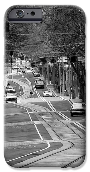 Tram iPhone Cases - Straight Lines iPhone Case by David Bearden