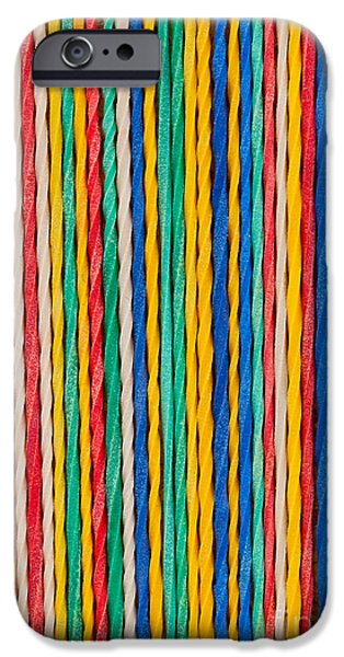 Line Sculptures iPhone Cases - Straight iPhone Case by Shawn Hempel