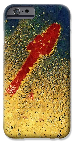 Contemporary Abstract iPhone Cases - Straight to the Heart iPhone Case by RC deWinter