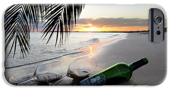 Wine Bottles iPhone Cases - Lost in Paradise iPhone Case by Jon Neidert