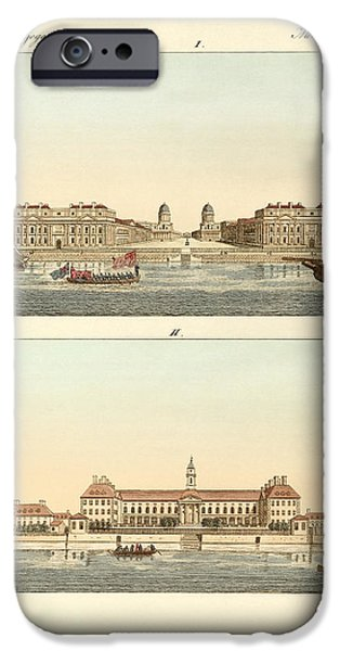 Architektur Drawings iPhone Cases - Strange buildings in England iPhone Case by Splendid Art Prints