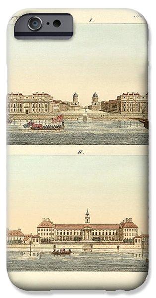 Strange buildings in England iPhone Case by Splendid Art Prints
