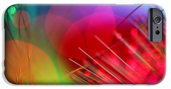 Abstract Digital Photographs iPhone Cases - Strange Days iPhone Case by Dazzle Zazz