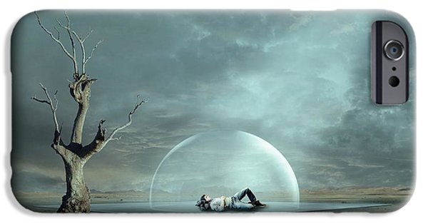 Freedom iPhone Cases - Strange Dreams Ii iPhone Case by Franziskus Pfleghart