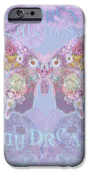 Strange iPhone Cases - Strange Swirl Butterfly iPhone Case by Alixandra Mullins