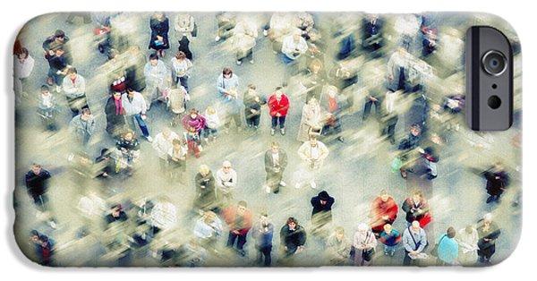 Marienplatz iPhone Cases - Strangers iPhone Case by Edmund Nagele