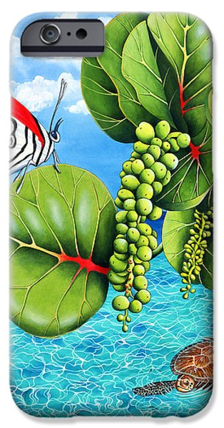 Recently Sold -  - Summer iPhone Cases - Strangers In Paradise  iPhone Case by Carolyn Steele