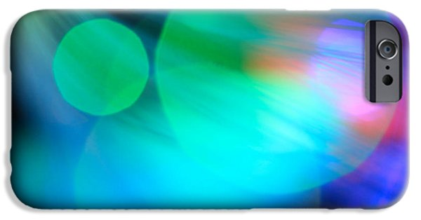 Abstract Digital Photographs iPhone Cases - Strangers In The Night iPhone Case by Dazzle Zazz