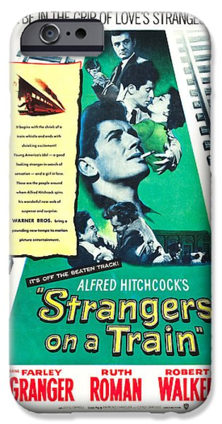 1950s Movies iPhone Cases - Strangers on a Train - 1951 iPhone Case by Nomad Art And  Design