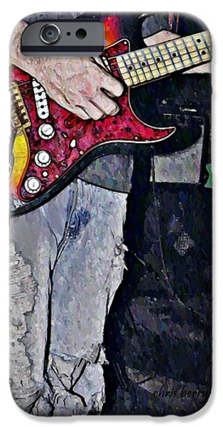 Strat Man  iPhone Case by Chris Berry