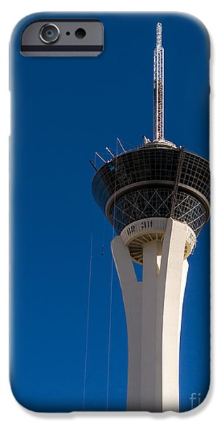 Stratosphere iPhone Cases - Stratosphere Las Vegas iPhone Case by Edward Fielding