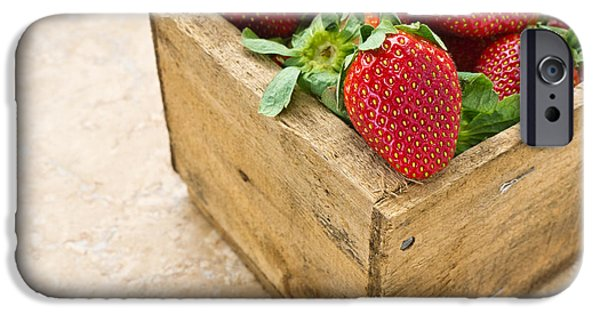 Crops iPhone Cases - Strawberries iPhone Case by Edward Fielding