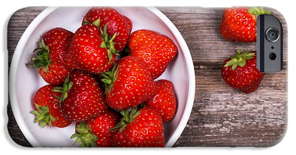 Berry iPhone Cases - Strawberries iPhone Case by Jane Rix