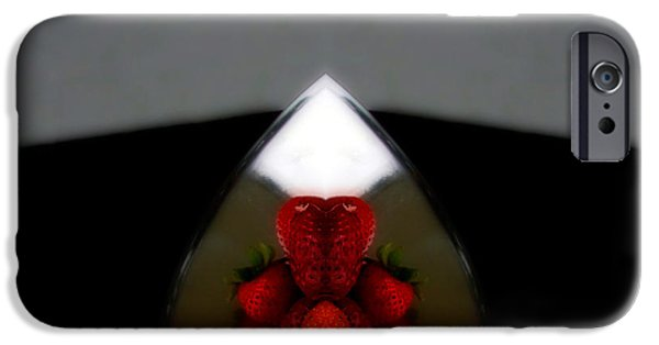 Strawberry iPhone Cases - Strawberries  iPhone Case by Steven  Digman
