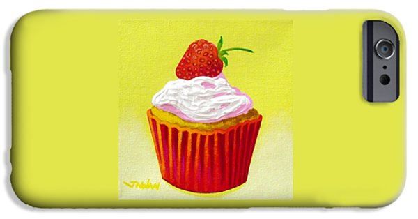 Frosting iPhone Cases - Strawberry Cupcake iPhone Case by John  Nolan