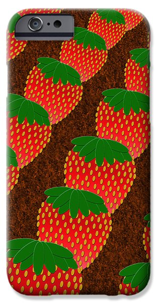 STRAWBERRY FIELDS FOREVER iPhone Case by Andee Design