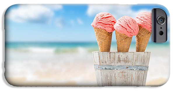 Strawberry iPhone Cases - Strawberry Ice Creams iPhone Case by Amanda And Christopher Elwell