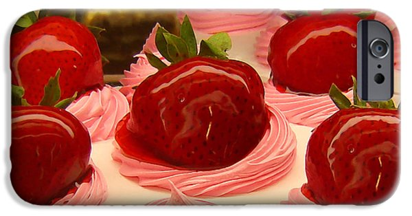 Berry iPhone Cases - Strawberry Mousse iPhone Case by Amy Vangsgard
