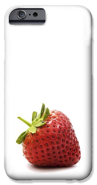 Strawberry iPhone Case by Natalie Kinnear