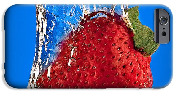 Dunk iPhone Cases - Strawberry Slam Dunk iPhone Case by Susan Candelario