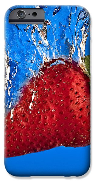 Strawberry Slam Dunk iPhone Case by Susan Candelario