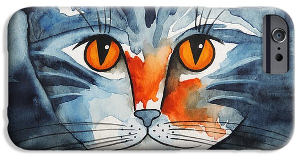 Stray iPhone Cases - Stray Cat iPhone Case by Jutta Maria Pusl
