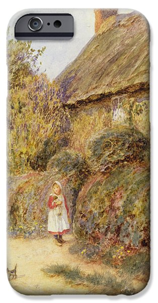 Stray iPhone Cases - Straying Wc On Paper iPhone Case by Helen Allingham