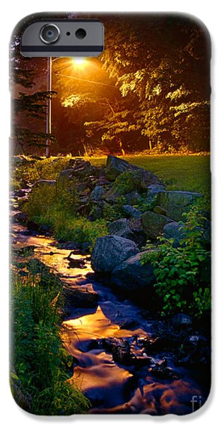 Stream By Streetlight iPhone Case by Mark Miller